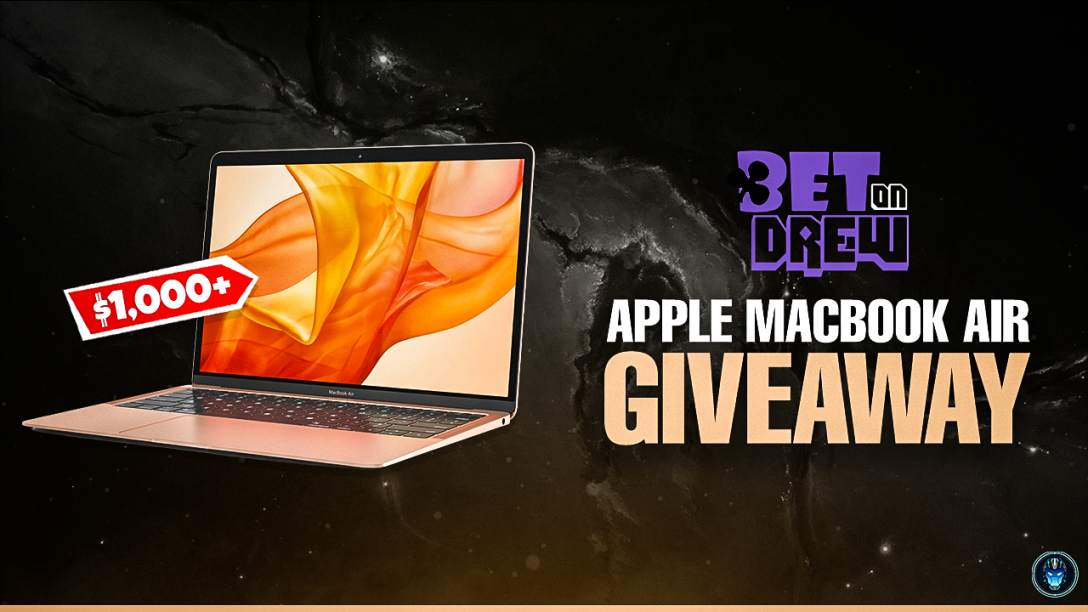 Image for MacBook Air - Gold or $1,000 CASH Giveaway by BetOnDrew & GridGamingIO