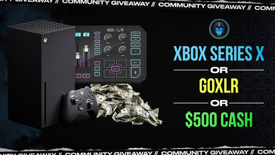 Image for GoXLR, Xbox Series X, or $500 Community Giveaway - Wk 44