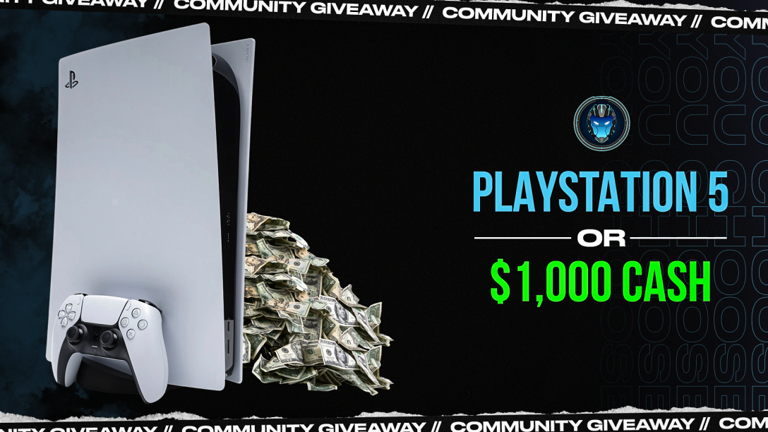 Image for PS5 or $1,000 Community Giveaway - Wk 43